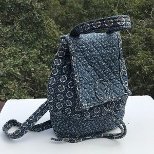 SOLD -Vera Bradley Indigo Blue Mimi Cinch Backpack
